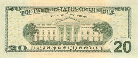 US $20 Series 2006 Reverse